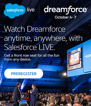 Preregister for Salesforce LIVE